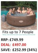 Good Price: SAVE £252 - Lay-Z-Spa St Moritz Hot Tub, 5-7 Person