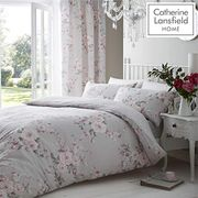 Catherine Lansfield Canterbury Easy Care King Duvet Set Grey