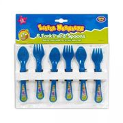 Baby Cutlery Plastic Forks/spoons 6 Pack