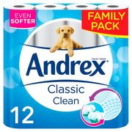 Andrex Toilet Tissue White 12 Rolls - Save £1.95