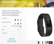 Fitbit Charge 2 - Special Edition - Black /Gunmetal Stainless Steel - Save £50