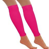 Neon Leg Warmers Dance Party 80s - Retro Fancy Dress Accessory (Pink) - 30% Off