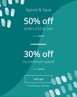 Photobox 50% off £50 Spend / 30% off No Min Spend