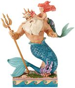 Disney Traditions Daddy's Little Princess Ariel and Triton Figurine,