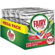 SAVE £7.20 Fairy Platinum Plus Lemon Dishwasher Tablets (100)