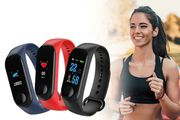 WowFit M3 Fitness Bluetooth Tracker with HR BP & BO Monitor - 3 Colours!