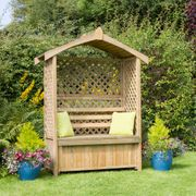 Tyberton Arbour Seat with Storage Box