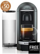 Nespresso Vertuo plus Coffee Machine by Krup +100 Coffee Capsules worth over £50