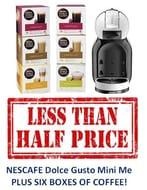 PRICE DROP! NESCAFE Dolce Gusto Mini Me - PLUS SIX BOXES OF COFFEE!