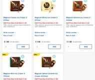 Magnum Classic Ice Cream / Almond / White / Mint 4 X 110ml