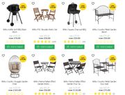 Full List of New Outdoor Living Offers at Wilko