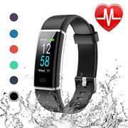 LETSCOM Fitness Tracker, Heart Rate Monitor, Color Screen, IP68 Waterproof
