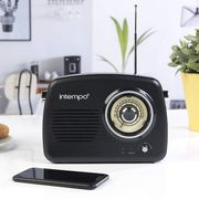 Intempo Bluetooth Speaker with FM Radio and Leather Carry Strap
