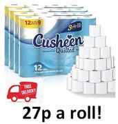 ONLINE EXCLUSIVE Cusheen Quilted Toilet Paper 60 Rolls FREE DELIVERY