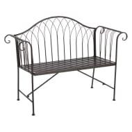 Wilko Country Metal Garden Bench