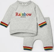 Baby Grey Rainbow Jogger Outfit Only £15