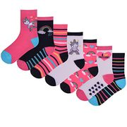 Good Value! 7 Pairs Children's Unicorn Ankle Socks - Free Delivery