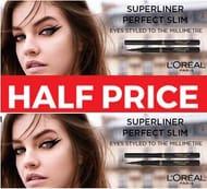 1/2 PRICE - L'Oreal Paris Superliner Perfect Slim Eyeliner, Intense Black