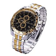 Mens Stainless Steel Watches Men Chronograph Sport Date Quartz Wristwatch