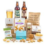 Craft Beer & Bar Snacks Hamper Gift Box 15% Off