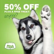 50% off 100% Human-Grade Raw Food plus a FREE Treat!!