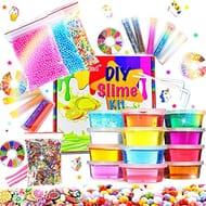 DIY Fluffy Slime Kit Crystal Slime Set for Girls Boys Toys Kids Art Craft