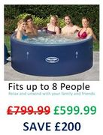PRICE DROP! save £200. Lay-Z-Spa Monaco Hot Tub 2019 Model, 6-8 Person