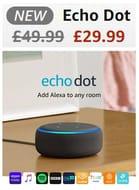 IT'S BACK! £20 OFF DEAL - Echo Dot (3rd Gen) - Smart Speaker with Alexa