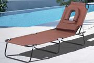 Folding Oxford Cloth Sun Lounger - 4 Colours