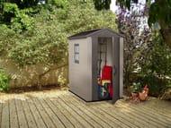 Keter Factor 4x6ft Outdoor Garden Storage Shed - Beige/Brown