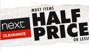 Most Items Half Price or Less