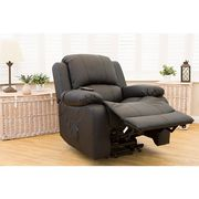 £400 off Chicago Bonded Leather Rise and Recliner Chair with Heat and Massage