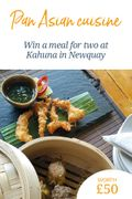 Win a Meal for Two at Kahuna in Newquay, worth £50!