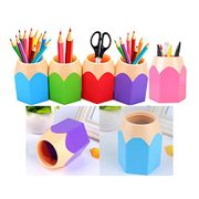 Misprice? Pack of 5 Assorted Colour Pencil Pot Desk Tidy Organizers