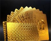 Gold Waterproof Playing Cards- Buy 4 Packs for Discount