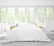 50% off Pure Bamboo White Duvet Cover Set (Single Bed)