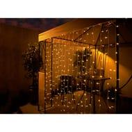 LED Curtain Solar Lights 192pk £9.99 (MRRP £25.00)