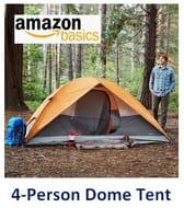 Amazon Basics 4 Person Dome Tent - Good Value **4.3 Stars**