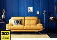 Half Price Beautiful Leather Sofa