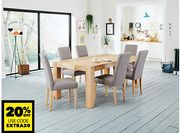 Lindos Wooden Dining Table & 6 Lucy Chairs