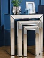 Birlea Valencia Nest of 3 Mirrored Tables