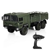 HELIFAR Remote Control Truck 1:16 Military RC Truck 2.4G 6WD Off-Road Remote