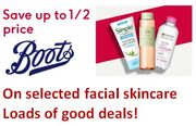 Facial Skincare Offer at BOOTS - LOTS of HALF PRICE DEALS!