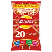 Walkers Classic Variety Crisps 20x25g Only £3 at Iceland Online
