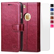 OCASE iPhone 6/6S Wallet Leather Case - Screen Protector & Guarantee Included