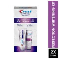 Crest 3d White Brilliance Perfection Whitening Kit 2 X 75ml