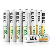 EBL AAA 1100mAh Ni-MH Rechargeable Batteries, 8 Pack