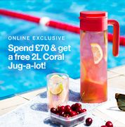 Spend £70 & Get a Free 2L Coral Jug-a-Lot! Ends Sunday.