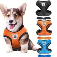 Oudiya Creative Adjustable Outdoor Pet Mesh Vest Chest Strap Dog Leash Dog