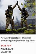 Activity Superstore - Paintball Entrance Gift Experience Day for 8